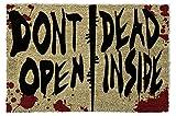 1art1 The Walking Dead - Dont Open, Dead Inside Felpudo Alfombra (60 x 40cm)