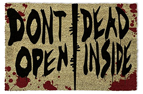 1art1 The Walking Dead - Dont Open, Dead Inside Felpudo Alfombra (60 x 40cm)