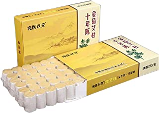 Pure Handmade Moxa Stick,Soothing Moxibustion,Aolcxl for Relieve Fatigue Moxa Sticks with Purity 60:1 Ratio(54pack)