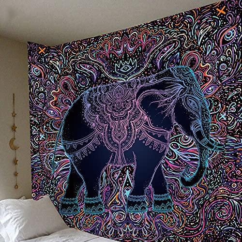 KHKJ Tapiz psicodélico de Mandala Luna Sol Hippie Grande Bohemio atrapasueños tapices Tela de Pared Alfombra Techo habitación decoración del hogar A4 230x180cm