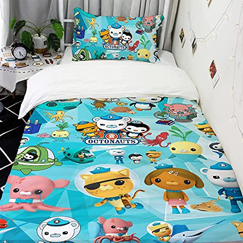 Vividuke Cartoon Bedding Set Soft Microfiber 2-Piece Lightweight Comforter Sets for Kids 53X79 in