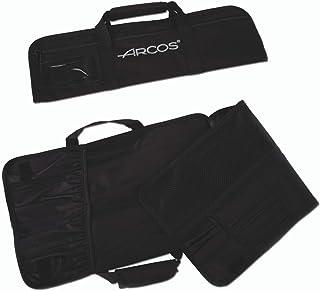 Arcos Trousse Couteaux - Trousse Couteaux to 4 pièces - 100% Polyester 460 x 275 mm - Couleur Noir (COUTEAUX NON INCLUS)
