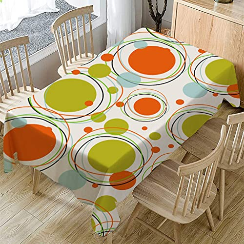 XXDD Dining Table Cloth Dust-Proof Colorful circle Printing Tablecloth Rectangle Coffee Table Cover Washable tablecloth A4 140x180cm