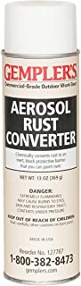 GEMPLER'S Fast Rust Converter and Primer 2-in-1 Spray-on Aerosol 13 Oz - One-Step Spray Canister to Effectively Convert Rusted Iron or Steel Surfaces and Prevent Additional Rusting