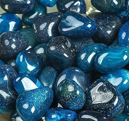ROYAL SAPPHIRE Piedras decorativas Piedras decorativas de roca de río - Piedras de color azul natural Para mejorar la apariencia en cristalería como jarrones, acuarios y terrarios ...: Amazon.es: Jardín