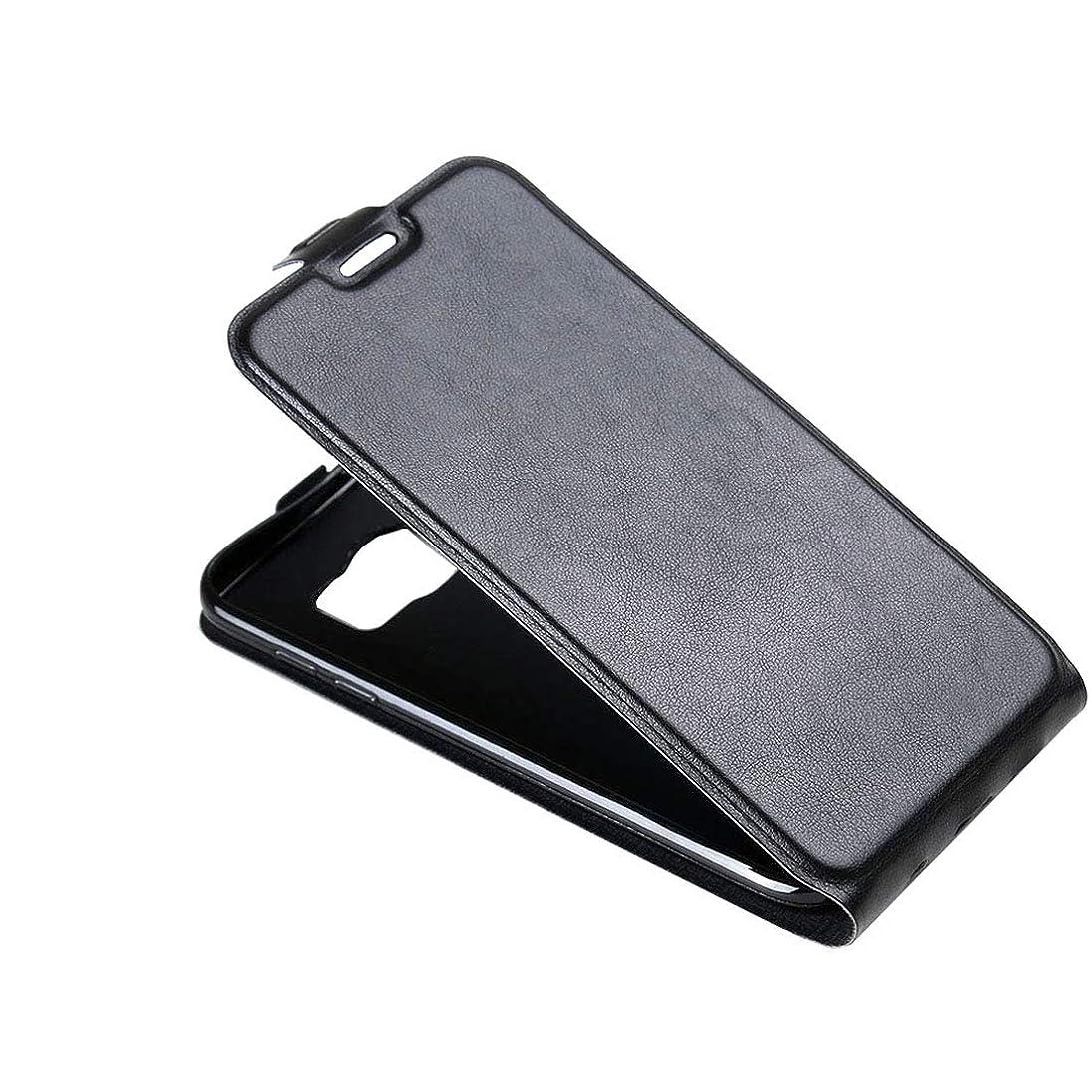 。作りストッキングGalaxy S7 / G930縦型フリップレザーケース(カードスロットとフォトフレーム付き)の新機能(ブラック) Yikaja (色 : Black)