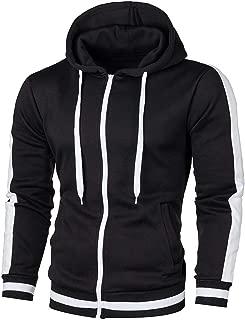 DONTAL Men Autumn Long Sleeve Patchwork Hoodie Hooded Sweatshirt Top Tee Outwear Blouse