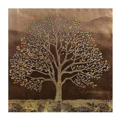 Image Peinture Arbre avec plaquette métallique