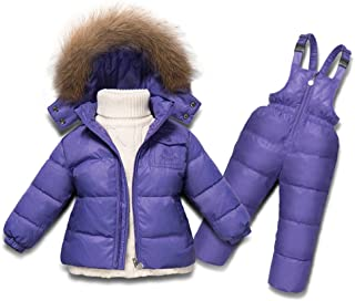 Upgraded version Children Winter Clothing set Boys Ski Suit Girl Down Jacket Coat + Jumpsuit Set 1-6 Years Kids Clothes For Baby