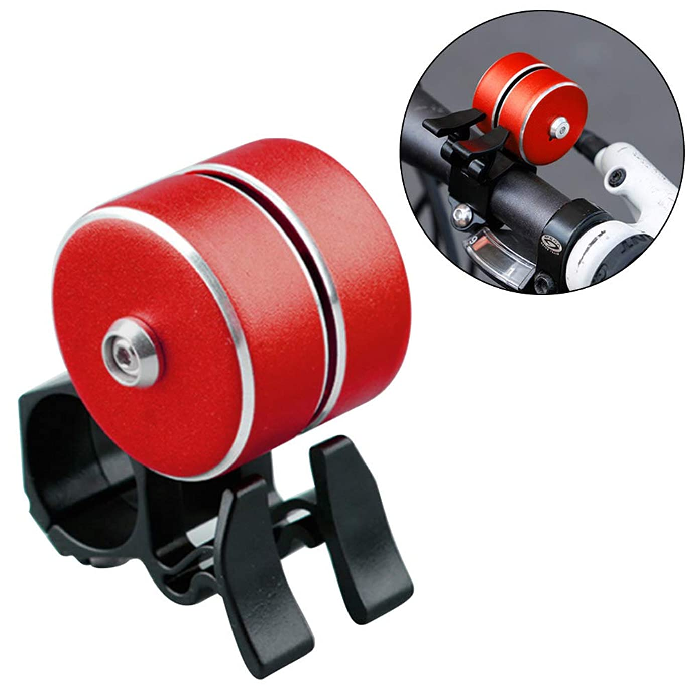 2Krmstr Aluminum Bike Bell,Loud Sound Bicycle Bell,Bike Ringer Bell,Bicycle Horn for Road Bike,Mountain Bike,Tricycle,Electric Bike