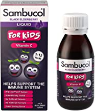 Sambucol Natural Black Elderberry for Kids   Vitamin C   Immune Support Supplement   120ml