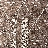 Safavieh Natürlicher Kelim-Teppich, NKM316, Flachgewebter Wolle Läufer, Braun / Elfenbein, 68 x 182 cm - 8