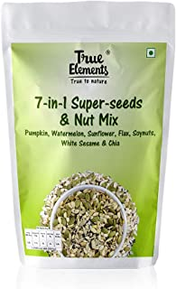 True Elements 7 in 1 Super Seeds Mix for Eating - Pumpkin, Watermelon, Sunflower, Flax, Soyanuts, White Sesame & Chia Seed...