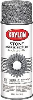 Krylon K18201 Coarse Stone Texture Finish Spray Paint, Black Granite, 12 Ounce