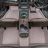Dinuoda Alfombrillas de coche para BMW Serie 7 2004-2008 Full rodeado de protección contra todo tipo de clima, antideslizante, impermeable y resistente al desgaste, forro de piel (gris)