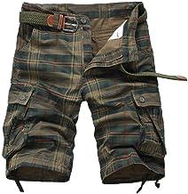 NOBRAND 2020 pantalones cortos cargo para hombre, de algodón, estilo militar