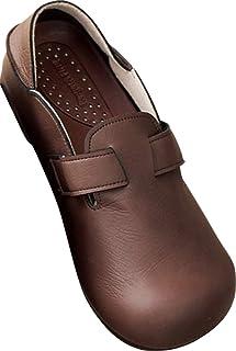 [MIRISE] ローファー スリッポン レザー調 可愛い 快適 らくらく ヒール 2cm 3E 日本製 M 22.5 ~ 23.0cm ブラウン