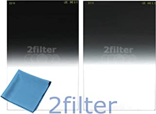 Lee Filters 100mm Soft Edge Filter Twin Pack - Includes Lee 4x6 Graduated ND 0.6 Soft Edge and Lee 4x6 Graduated ND 0.9 Soft Edge Filters, Included 6x7 Wyndham Digital Microfiber Cloth!