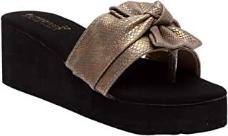 Butterflies Steps Latest Collection, Comfortable Wedges Sandal for Women's & Girl's (Gold) (GHS-0050GDN)