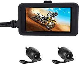 OBEST Biker's Camera Motorcycle Dash Cam 720p Dual Lens Video Recorder Motorcycle..