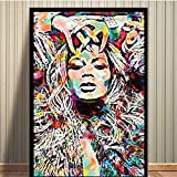 LangGe Bild auf leinwand 50x70cm kein Rahmen Beyonce