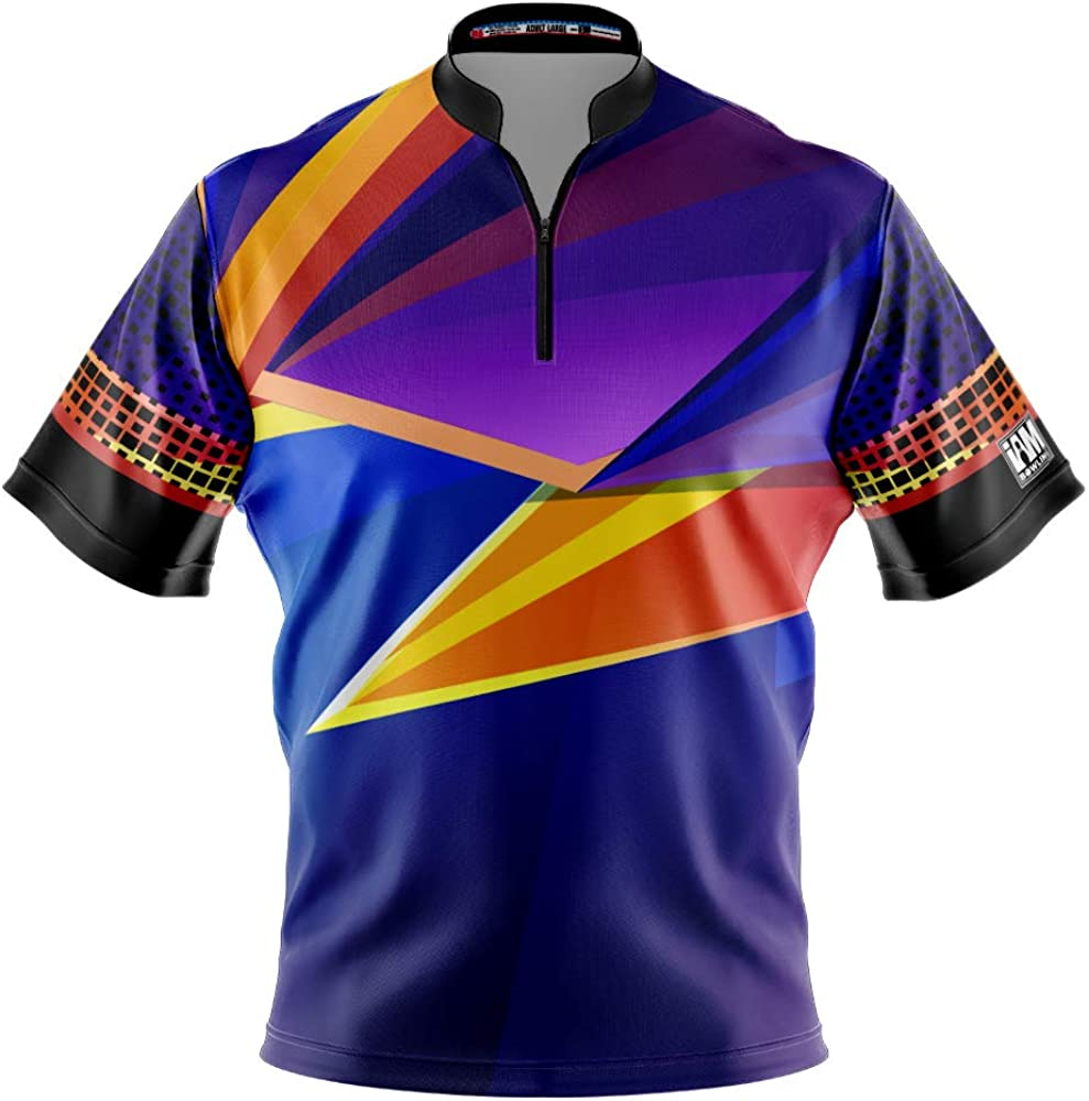 Logo Infusion Dye-Sublimated Bowling It is very popular sale Jersey AM I - Sash Collar