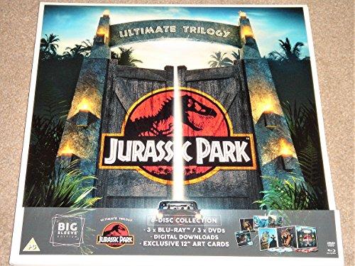 Jurassic Park Ultimate Trilogy Big Sleeve Edition Blu Ray + DVD + Art Cards / Region Free Blu Ray