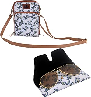Style bite Stylish Cross Body Mobile Sling Bag And Soft Shades Cover