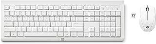 HP – PC C2710 Combo Tastiera e Mouse Wireless, Tastierino Numerico, Tasti Scelta Rapida, Piedini Regolabili, Rotella Scorr...