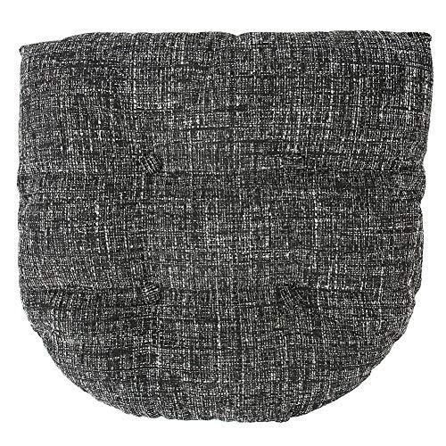 Rosilesi Cojín tapizado de poliéster Negro Terraza Muebles de jardín Cojín para...