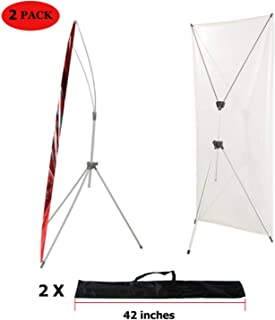 YDisplay X Banner Stand Adjustable Fit Banner Size from 23