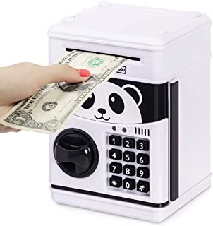 Refasy Piggy Bank Cash Coin Can ATM Bank Electronic Coin Money Safe for Kids-Hot Gift