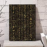 OCRTN Jeroglíficos egipcios Antiguos Abstractos Cultura de Escritura Cultura egipcia Arte nórdico Lienzo póster decoración de la Pared del hogar Arte Moderno 40x60cm sin Marco