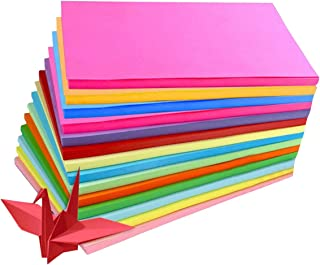 ASTRQLE 100Sheets A4 Assorted Coloured Pastel Bright Paper Multipurpose Double Sided Folding Origami Paper for Kid's Art &...