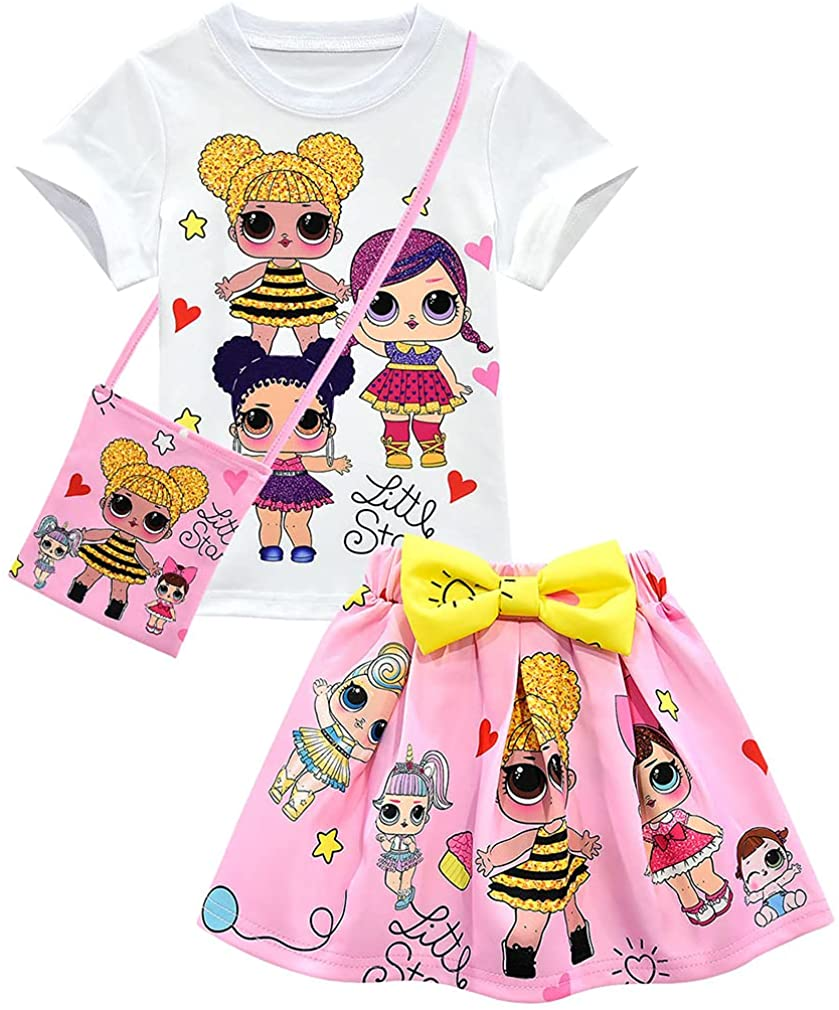 Wholesale Bololoc Girls Birthday Fixed price for sale Clothes Surprise Short Sleeve Skirt Shirt