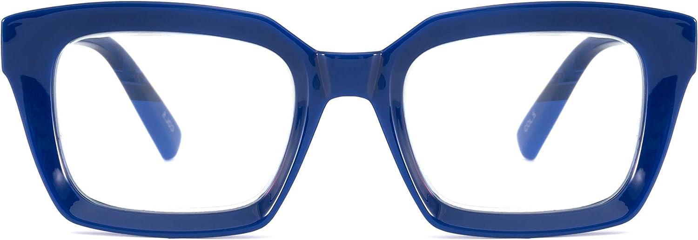 Alsenor New products world's highest Max 79% OFF quality popular Retro Oprah Style Oversized Eyeglass Square Frames Readi