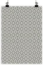 BarronTextile Quatrefoil Wall Art Decor Poster Painting Edwardian Style Vintage Tessellation Pattern in Plain Colors Rich Floral Motifs Decorations Home DecorTaupe Beige 20