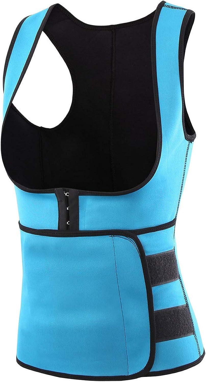 Fankle Women's Waist Trainer Corset Zipper Vest Body Shaper Cincher Tank Top with Adjustable Straps