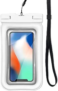 ロベンズナオミ 防水ケース スマホ用 フローティング構造 ストラップ付き IP68防水防塵 指紋認証 iPhone/Android対応 完全防水ポーチ