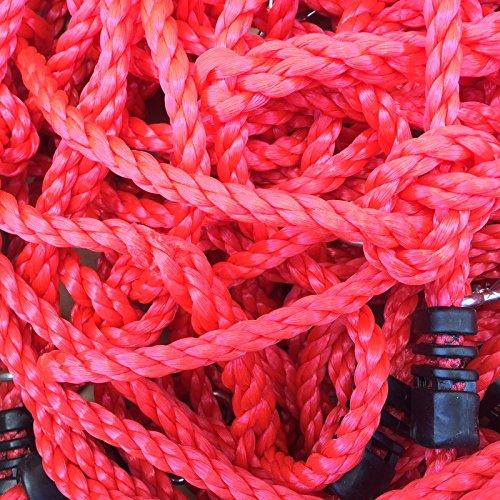 Loggyland Kletternetz 2,00 Meter hoch, 0,75 Meter breit, Verschiedene Netzfarben zur Auswahl HxB 2,0x0,75 ohne Holzkonstruktion (HELLGRÜN) (rot)