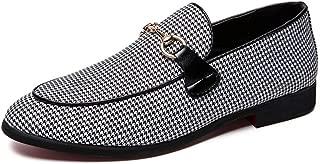 ailishabroy Zapatos de Vestir Formales para Hombre, de Piel sintética, con Cordones, Zapatos Modernos
