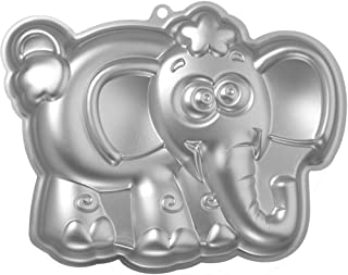 Elephant Cake Pan, Kids 3D First Birthday Animal Shaped Cake Pan Baby Mold, Baby Shower Cake Pan Mold- Aluminum Alloy- 10 Inch