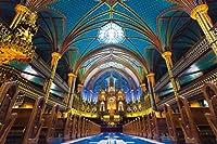 1000ピース 光るジグソーパズル めざせ! パズルの達人 輝くノートルダム聖堂―カナダ (50x75cm)