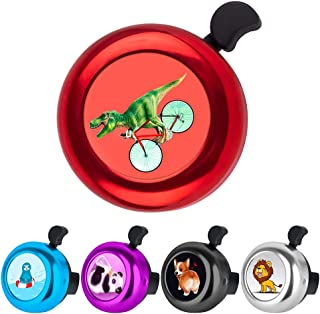 Owa Stainless Steel Aluminum Bicycle Bell Clear Cloud Ringing Sound Cycling Bike Ring Cute Corgi Dog Safe Bike Accessory f...