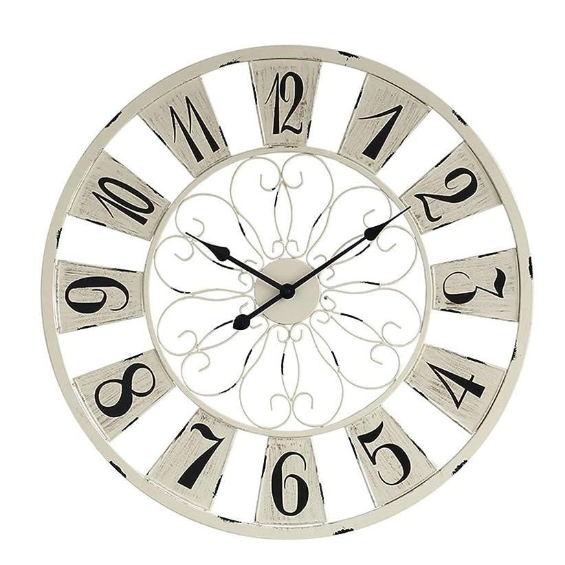 置換作業警告する壁掛け時計クリエイティブ産業風ファッションシンプルな人格大鉄レトロ装飾時計ミュート時計76 * 76センチ