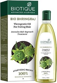 Biotique Bio Bhringraj Therapeutic Hair Oil for Falling Hair Intensive Hair Regrowth Treatment, 200ml