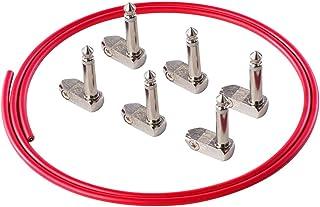 Rayzm Kit de cable para guitarra/baja pedalera de automontaje sin soldadura. Patch Cable para pedales de efectos-1/4