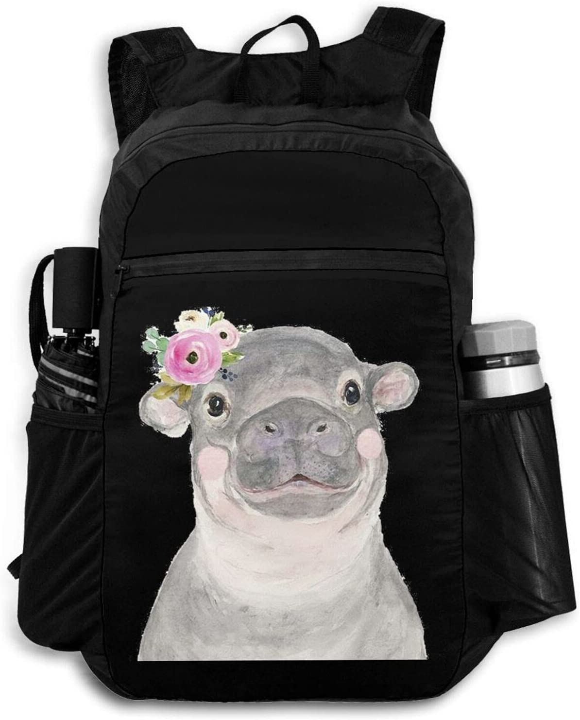 Zolama Hippo Backpacks Max 61% OFF for Women Men Light Packable Cute Daypack New products, world's highest quality popular!