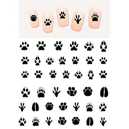 Amazon.com: NAIL ART BEAUTY WATER DECAL SLIDER STICKER ANIMAL PET CLAW PAW FOOT PRINT SWEET HEART BLACK CAT RP025-030,6 SHEETS RP025-030 : Beauty & Personal Care