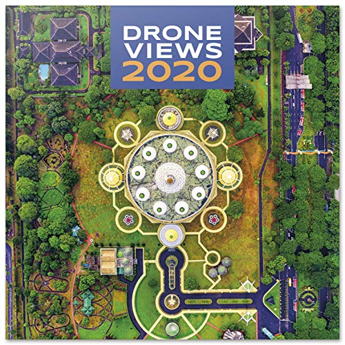 ERIK® Drone Views muurkalender/brochure kalender 2020 30 x 30 cm (opengeklapt 30 x 60 cm in staand formaat)